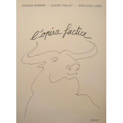 DURAND/ VIALLAT/ LOPEZ l'opéra factice PLANCHE CORRIDA Ed. CHIENDENT 1986 neuf++