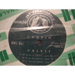 "SONDRA BIANCA valses 1/6/7/9/11 CHOPIN EP 7"" Guilde disque VG++"