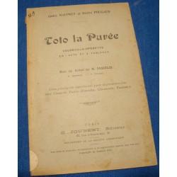 ANDRÉ MAUPREY & DÉSIRÉ POUGAUD toto la purée 1914 JOUBERT théatre RARE++