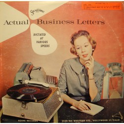 ACTUAL BUSINESS LETTERS dictated at various speed - Stenographie LP Stenodisc VG++