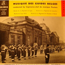 CHANGING THE GUARD AT THE PALAIS ROYAL BRUSSELS/POULAIN guides belges EP VG++