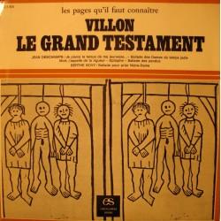 """VILLON le grand testament DESCHAMPS/BOVY EP 7"""" ballade pr prier notre-dame VG++"""