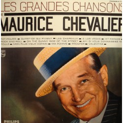 MAURICE CHEVALIER les grandes chansons LP Philips - pot-pourri/rock and roll VG++