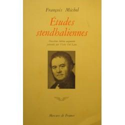 FRANÇOIS MICHEL études stendhaliennes DEL LITTO 1972 Mercure - 2eme edition++