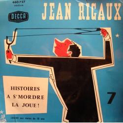 """JEAN RIGAUX 7 histoires à s'mordre la joue EP 7"""" Decca VG++"""
