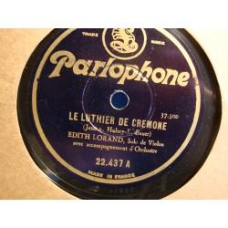 EDITH LORAND monte risto/le luthier de cremone 78T Parlophone VG++