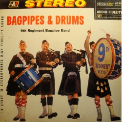 BAGPIPES and DRUMS 9th regiment pipe band LP Audio Fidelity VG++