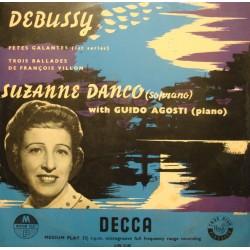 SUZANNE DANCO/GUIDO AGOSTI trois ballade de François Villon DEBUSSY LP25cm VG+