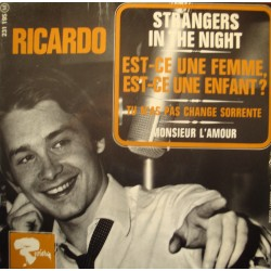 RICARDO strangers in the night/est-ce une femme/monsieur l'amour EP Riviera VG++
