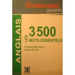 BOUSCAREN/RIVIERE les 3500 mots essentiels ANGLAIS vocabulaire OPHRYS 2006 EX++