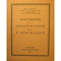 PIERRE SOUTY documents sur la constitution de la Ve republique 1964 Montchrestien++