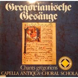 CAPELLA ANTIQUA/CHORAL SCHOLA gregorianische gesange/chants grégoriens 2LP'S VG+