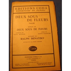RALPH BENATZKY deux sous de fleurs 1933 Ed. Coda - Partition RARE++