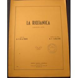 CABALLERO/DE LA PUENTE la riojanica - Cancion Jota 1957 Partition Union Musical++