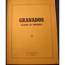 GRANADOS allegro de concierto 1930 Union musical espanola - Partition++