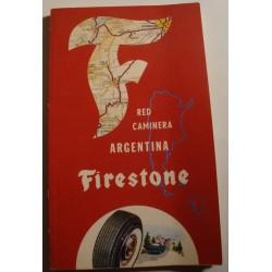 FIRESTONE red caminera Argentina 1962 Liberato estoroni e hijos TOURISME rare++