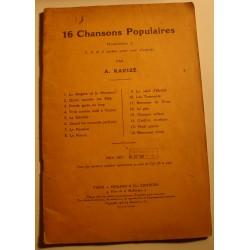 A. RAVIZÉ 16 chansons populaires 1932 Durand - bérgère et le monsieur RARE++