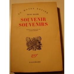 HENRI MILLER souvenir souvenirs 1953 Gallimard RARE++