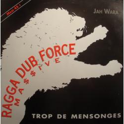 """JAH WARA trop de mensonges/il n'est jamais trop tard RAGGA DUB FORCE Maxi 12"""" NM++"""