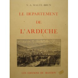 V.A. MALTE-BRUN departement de l'Ardeche 1983 BASTION illustrations carte RARE++