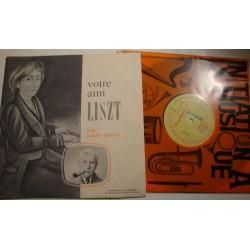 CLAUDE DARGET votre ami LISZT LP25cm Initiation musique EX++