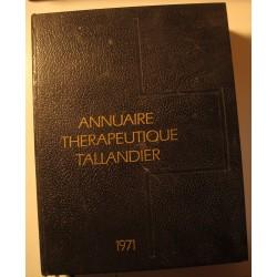 ANNUAIRE THÉRAPEUTIQUE TALLANDIER 1971++