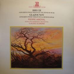 CLAUDIO SCIMONE/AMOYAL concerto pr violon BRUCH/GLAZOUNOV LP Erato EX++