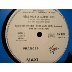 """FRANCES piège pour la souris/frances en prison MAXI 12"""" PROMO 1987 VIRGIN EX++"""