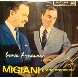 MIGIANI GRAND ORCHESTRE bravo AZNAVOUR LP 1963 RCA RARE VG+
