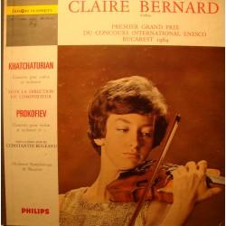 CLAIRE BERNARD/BUGEANU/BUCAREST concours Enesco 1964 PROKOFIEV LP VG+