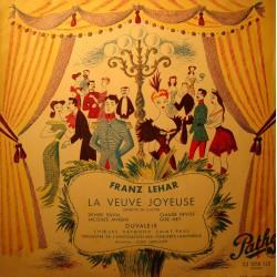 DUVALEIX/DUVAL/DEVOS/GRESSIER la veuve joyeuse LEHAR LP Pathé VG++