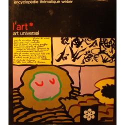 ENCYCLOPÉDIE THÉMATIQUE WEBER l'art - art universel 1974 RARE++