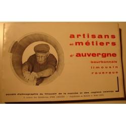 JAFFEUX/PRIVAL artisans et métiers d'Auvergne 1975 Limousins++