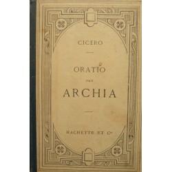 TULLII CICERONIS - CICERO oratio pro archia EMILE THOMAS 1904 HACHETTE RARE++