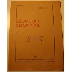 LOUIS SART géométrie descriptive - figures 1958 Wesmael - Namur