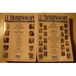 LE TROMBINOSCOPE informations du monde politique 2 Tomes - 2001