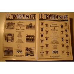 LE TROMBINOSCOPE informations du monde politique 2 Tomes - 1993
