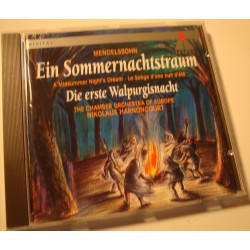 NIKOLAUS HARNONCOURT sommernachtstraum/walpurgisnacht MENDELSSOHN CD EX