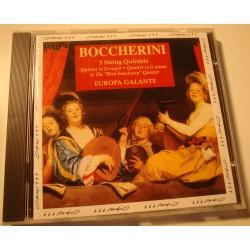 EUROPA GALANTE 3 string quintets BOCCHERINI CD 1993 Opus EX