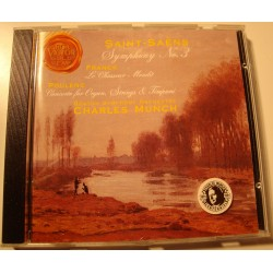 MUNCH/BOSTON symphony 3 SAINT-SAENS/FRANCK/POULENC CD 1991 EX