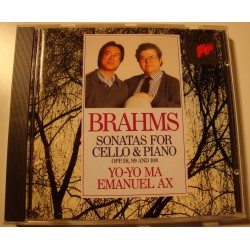 YO-YO MA/EMANUEL AX sonatas for cello and piano BRAHMS CD 1992 Sony EX