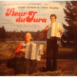 GILBERT SCHWAB/CEDRIC STAUFFER fleur du Jura LP 1981 Accordéonistes Jurassiens 7