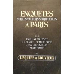 ++L'EQUIPE DE GOUVIEUX enquetes sur les valeurs spirituelles à Paris 1947 OBERLIN++
