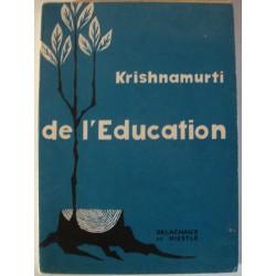 KRISHNAMURTI de l'éducation 1959 Delachaux