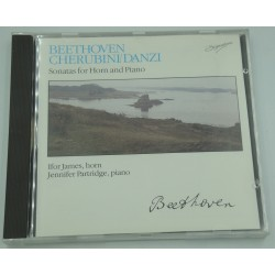 IFOR JAMES/PARTRIDGE sonatas for horn and piano BEETHOVEN/DANZI CD Knew