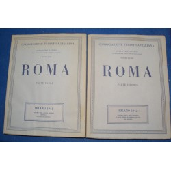 CONSOCIAZIONE TURISTICA ITALIANA roma 2 Volumes 1941 MILANO RARE++