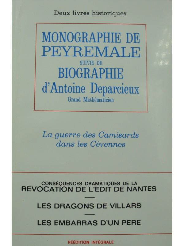 ERNEST DURAND monographie de Peyremale - Biographie d'Antoine Deparcieux - guerre des camisards