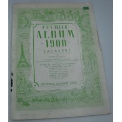 SALABERT premier album 1900 - piano et chant - valse bleue/petite tonkinoise