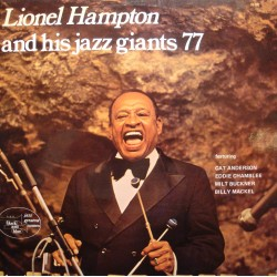 LIONEL HAMPTON & his jazz giants 77 LP BLACK & BLUE Anderson/Buckner EX++