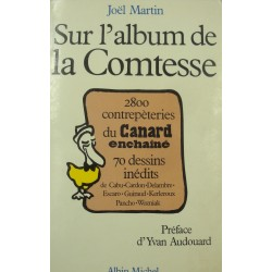 JOËL MARTIN sur l'album de la comtesse - Canard enchainé - Cabu/Cardon/Wozniak 1988